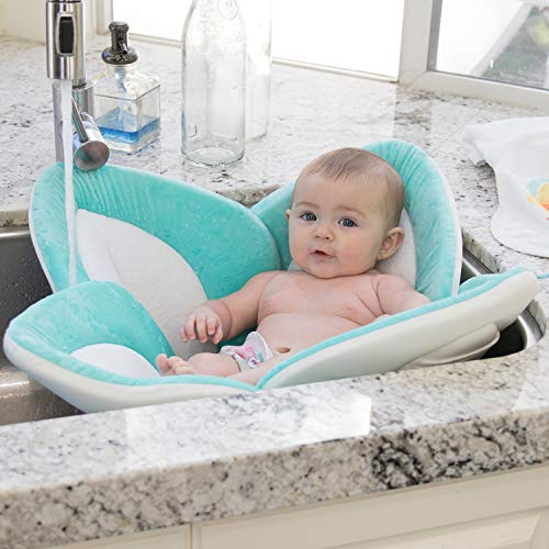 Blooming Bath Lotus - Baby Bath (Seafoam/White/Gray)