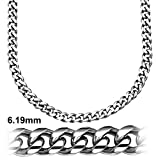 Sterling Manufacturers Alluring Miami Cuban Link Chain Bracelet for Men, 925 Sterling Silver Jewelry with Secure LinxLock Design, Platinum Plated 6.19 MM, Made in Italy