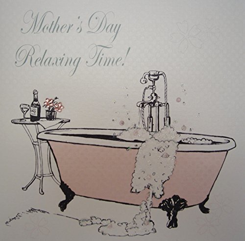 WHITE COTTON CARDS Relaxing Time Handmade Mother's Day Card (Code MP15)