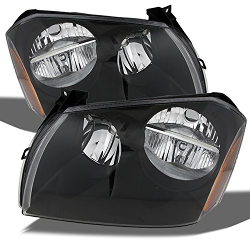 For Dodge Magnum OE Replacement Black Bezel Headlights Driver/Passenger Head Lamps Pair New