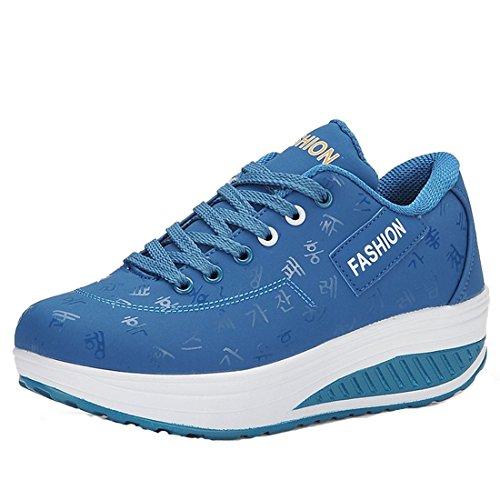 Zapatillas Deportivas de Las Señoras Zapatillas de Deporte de Las Mujeres Zapatillas de Deporte de Llas Mujeres Azul