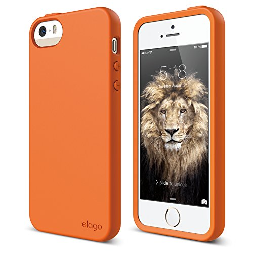 iPhone SE case, elago [Flex][Orange] - [Robust TPU][Shock Absorbing][Cushioned] - for iPhone SE/5/5S