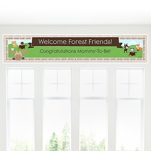 Woodland Creatures Shower Decorations Banner