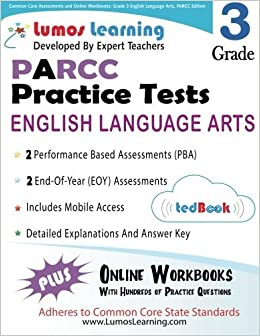 Book Common Core Assessments and Online Workbooks: Grade 3 Language Arts and Literacy, PARCC Edition: Common Core State Standards Aligned by Learning Lumos (2014-01-02)