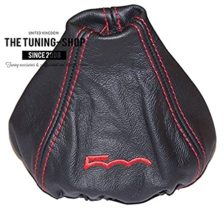 Gear Gaiter Shift Boot Manual Black Leather Embroidery Italian Flag Edition