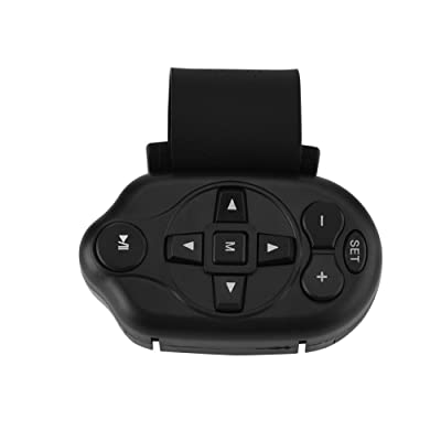 Wireless Universal Remote Control, Infrared Car Steering Wheel Remote Control of Car CD/VCD/DVD or Others/Humanized Structure/Black