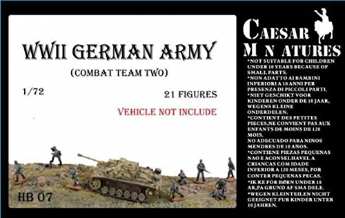 - Caesar Miniatures HB7 WWII German Army Combat Team Two 1/72 Scale Model Figures