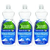 Seventh Generation Natural Dish Liquid, Fragrance Free, 25 Fl Oz, (Pack of 3)