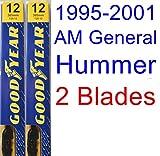 1995-2001 AM General Hummer Replacement Wiper Blade Set/Kit (Set of 2 Blades) (Goodyear Wiper Blades-Premium) (1996,1997,1998,1999,2000)