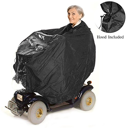 Lightweight and Waterproof Mobility Scooter Cape – Protects Rider and...