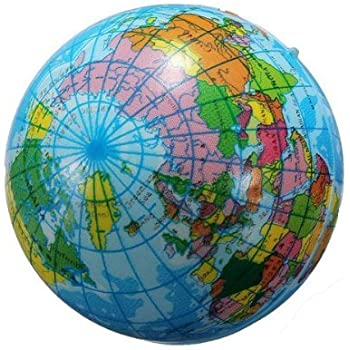 Amazon inflatable globe blow up globe world map atlas ball 60mm world map foam earth globe geography ball gumiabroncs Image collections