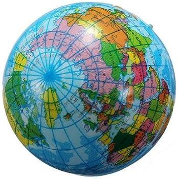World Map Globe Ball. 60mm World Map Foam Earth Globe Geography Ball Amazon com  Toys