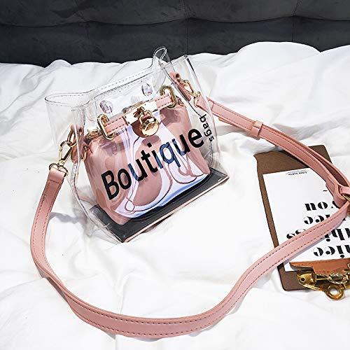 Liquide Rose Sacs WSLMHH de épaule à Messenger Sac Sauvage Sac Bag Main Mode bandoulière Dames Transparent pp7qaS