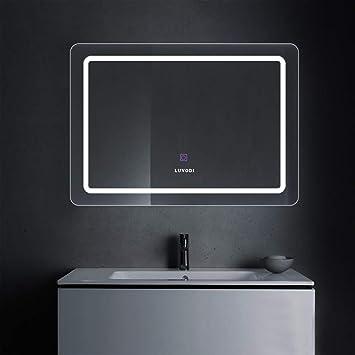 Luvodi Badspiegel Led Beleuchtung Wandspiegel Badezimmerspiegel Mit