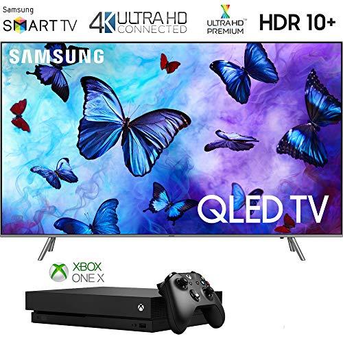 Samsung 82Q6 QN82Q6FNA QN82Q6 82Q6FN 82 inch QLED Smart 4K Ultra HD QLED TV (2018) with Microsoft Xbox One X 1TB Console Bundle]()
