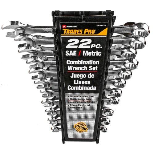 Tradespro 836574 SAE and Metric Wrench Set, 22-Piece - Metric Spanner Set