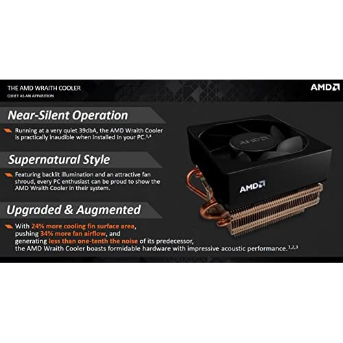 AMD SILENT COOLER without LED light Socket FM2//FM1//AM3//AM2+//AM2//1207//939//940//754 Copper Base//Alum Heat Sink /& 3.5 Fan w//Heatpipes /& 4-Pin Connector Up to 125W