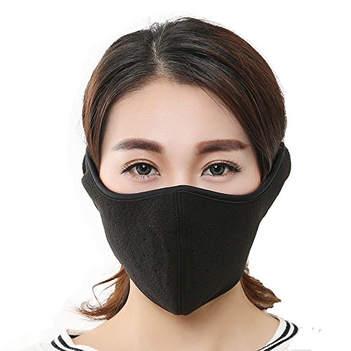 Kaposev Men and Women's Windproof Cold Resistant Warmer Face Mask with Breathable Spiracle, Ajustable Velcro Strap Design Cold Weather Earmuffs Full Ears Protection for Cycling Bicycle Motorcycle Ski (Mask Face Full Weather)