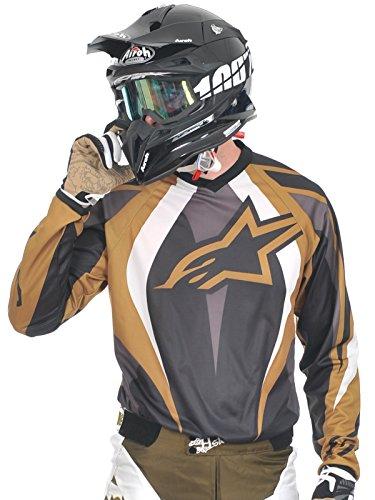 2009 Racer Alpinestars Or Noir Motocross Maillot EqnHaAp