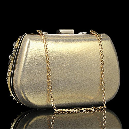 Luxurious NVBAO Lady Party Diamond Purse X Clutch 13cm£© Handbag£¬ Bridal Evening Bag £¨18 gold Wedding FAFrwqXp