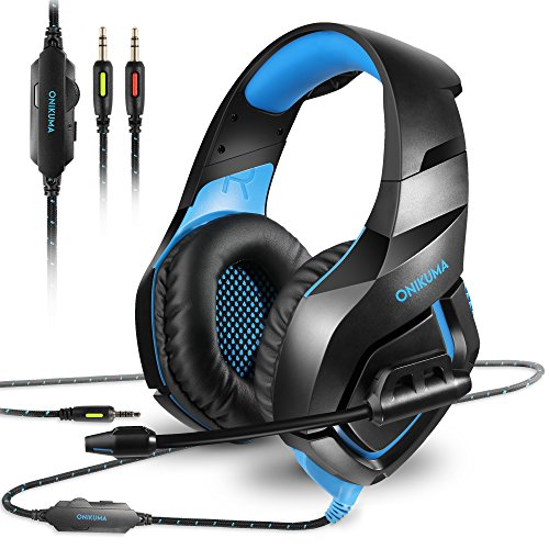 51Dy%2BQ7UoJL - ONIKUMA Stereo Gaming Headset for PS4 Xbox One, Noise Cancelling Mic Over Ears Gaming Headphones with Microphone for Nintendo Switch PlayStation 4 Laptop Smartphones and PC