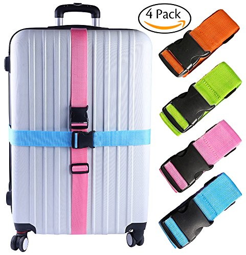 Darller 2/4 PCS Luggage Straps Suitcase Belts Travel Accessories Bag Straps