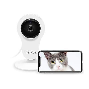 Cámaras Vigilancia WiFi Interior, Netvue HD Cámara IP con Visión Nocturna, Detección de Movimiento, Audio de 2 Vías, Cámara de seguridad inalámbrica ...