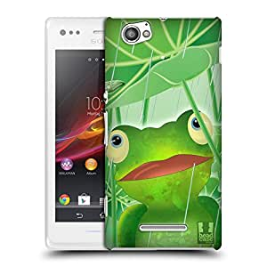 Head Case Designs Frog Toon Animals Hard Back Case Cover for Sony Xperia M C1905 C1904