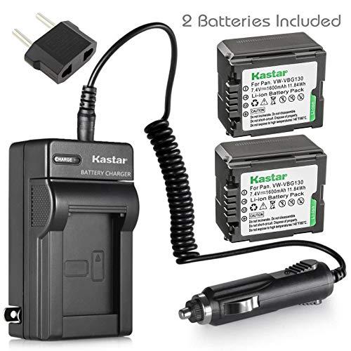 - Kastar Battery 2X + Charger for Panasonic VW-VBG130 & Panasonic Lumix DMC-L10 HDC-HS250 HDC-HS300 HDC-HS700 HDC-SD10 HDC-SD600 HDC-SD700 HDC-SDT750 HDC-TM10 HDC-TM15 HDC-TM300 HDC-TM700 SDR-H80