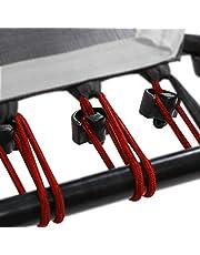 SportPlus Rubberen touwset voor SportPlus Fitness trampoline, 36 bungee-touwen incl. bevestigingsclips, diverse hardheidsgraden voor verschillende gebruikersgewichten