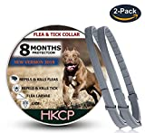 HKCP New Vision 2018 Flea and Tick Collar for Dog and Cat - 8 Months Protection Allergy-Free Medicine-Waterproof flea tick Collar -2 Packs