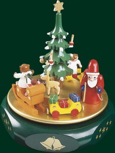 La Navidad musical de la caja musical del reloj sueña el mecanismo musical Seiffen 17 montañas del mineral del cm NUEVAS: Amazon.es: Hogar