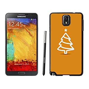 NEW Unique Custom Designed Samsung Galaxy Note 3 N900A N900V N900P N900T Phone Case With Minimal Flat Christmas Tree Illustration Orange_Black Phone Case