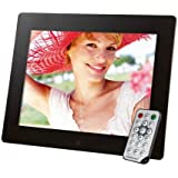 Intenso Mediagallery Digitaler Bilderrahmen (24,6 cm (9,7 Zoll) LCD-Display, Videofunktion, MP3-Funktion, Diashow, Fernbedienung) schwarz