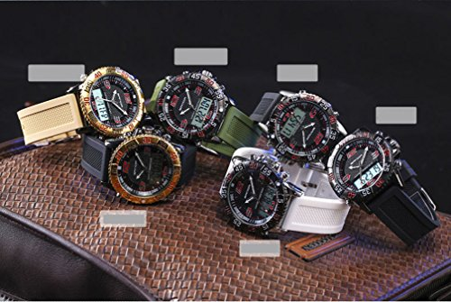 Boys Quartz Electronic Wrist Sport Watch Back Light Casual Business Sports Watches Black+Green by YLJHCYGG (Image #3)