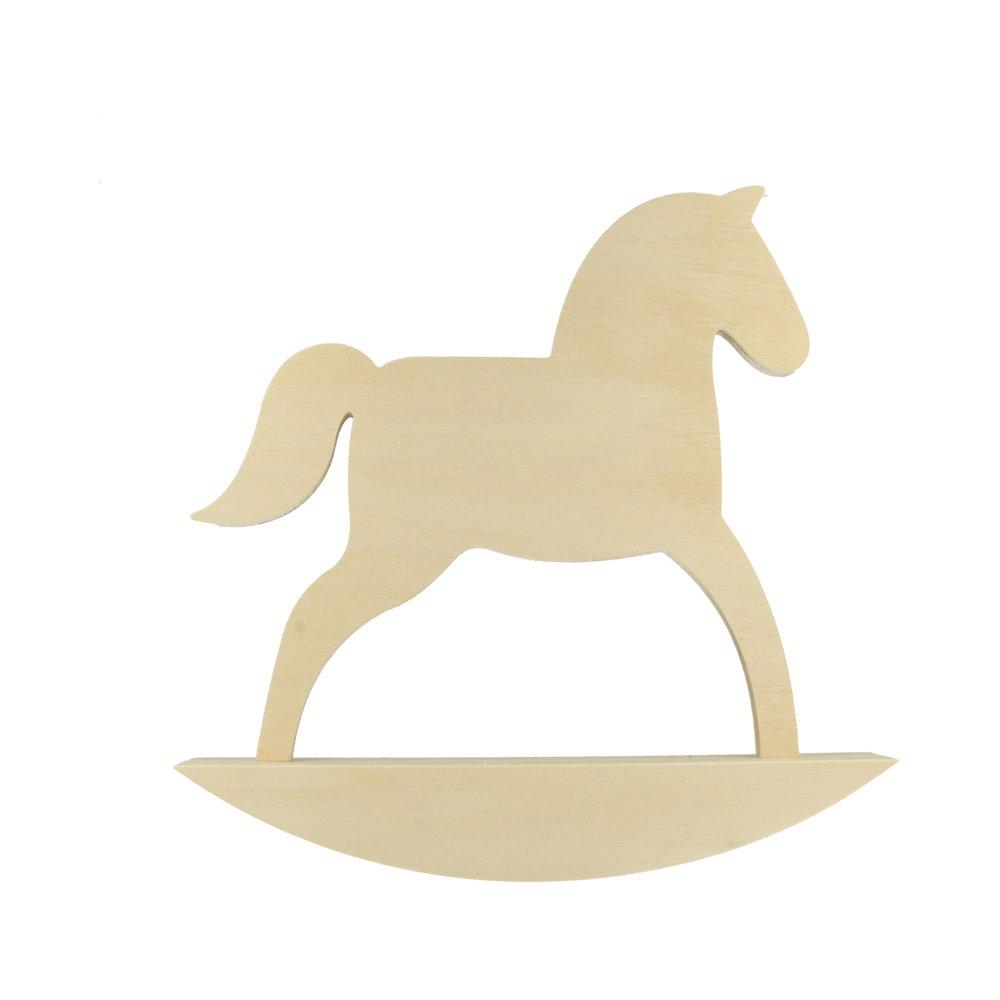 Cavallo Dondolo In Legno Da Personalizzare 24, 5 x 25 cm –  decorativo Cameretta dei bambini 5x 25cm-decorativo Cameretta dei bambini Artemio