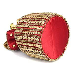 Mammon Women's Potli (Potli-lari-red_Red)