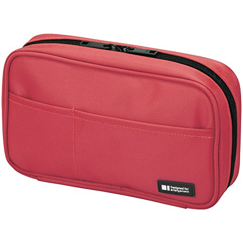 LIHIT LAB Pen Case, 7.9 x 2 x 4.7 inches, Coral (A-7551-103)