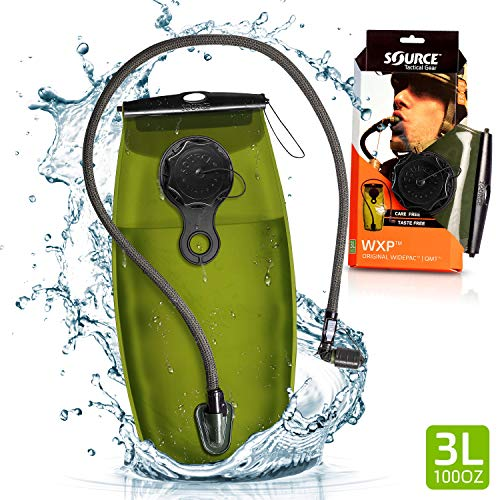 Source Tactical WXP 3-Liter Hydration Reservoir Leakproof Antimicrobial System with Storm Valve (Foliage)