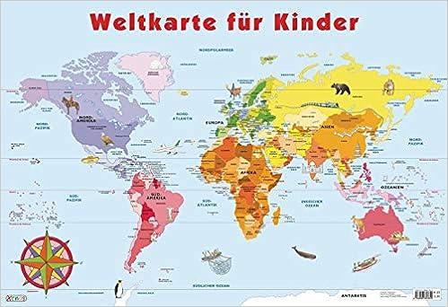 die weltkarte für kinder Mein Lernposter   Weltkarte für Kinder: Amazon.de: Bücher
