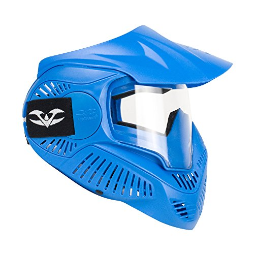 Paintball Mask Blue Lens - Valken Paintball MI-3 Gotcha Kids Goggle/Mask with Single Lens & Top Strap - Blue