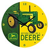"Vandor 28089 John Deere 13.5"" Cordless Wood Wall Clock, Multicolor"
