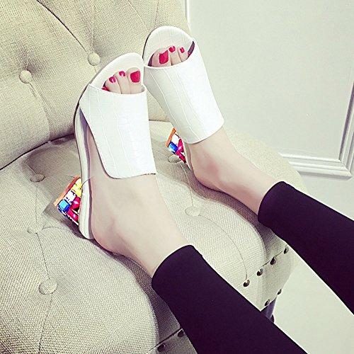 Avec Mules Citw Et Diamant Blanc Femmes Sandals De Plateau D'été Mode Respirant Chaussures qSBq4Y