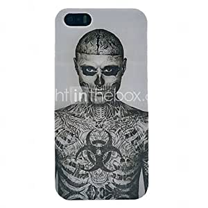 Tattoo Skull Pattern Plastic Back Cover for iPhone 5/5S