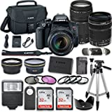 Canon EOS Rebel T7i DSLR Camera Bundle with Canon EF-S 18-135mm f/3.5-5.6 IS STM Lens + Canon EF 75-300mm f/4-5.6 III Lens +