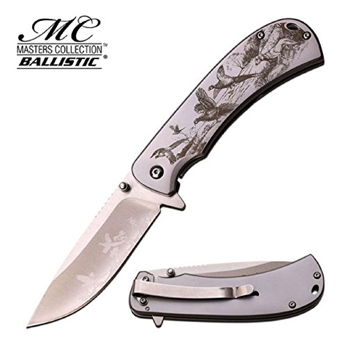 MC-A038SL 3mm Folder Satin Blade, Matte Stainless Handle with Laser Pheasant, 4.5″ Review