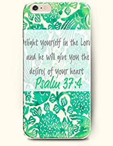 iPhone Case,OOFIT iPhone 6 Plus (5.5) Hard Case **NEW** Case with the Design of delight yourself in the lord and he will give you the desires of your heart psalm 37:4 - Case for Apple iPhone iPhone 6 (5.5) (2014) Verizon, AT&T Sprint, T-mobile