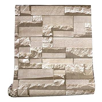 Tkopainsde 3D Einfache Brick Brick-Kultur Stein Marmor Wand Papier ...