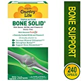 Country Life Triple Action Bone Solid - Calcium Supplement with Boron, HCA, Vitamin