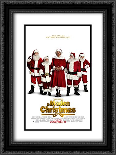 Tyler Perry's A Madea Christmas 18x24 Double Matted Black Ornate Framed Movie Poster Art - Of Galleria Tyler